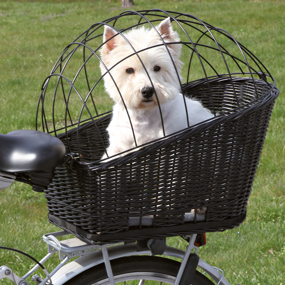 grote gevlochten fietsmand met kussen bestel nu veilig. Black Bedroom Furniture Sets. Home Design Ideas
