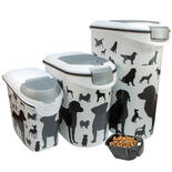 Curver voedselcontainer opdruk hond silhouette