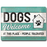 Nostalgic-Art bord DOGS Welcome