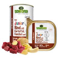 Schecker hondenmenu - junior rund met aardappel, venkel en banaan