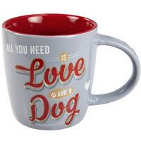 Pfotenschild beker Love and a Dog