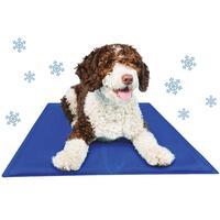 Schecker-koelmatten voor honden - blauw -