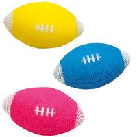 Hondenspeelgoed set van 3 rugbyballen
