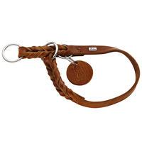 Hunter Solid Education halsband, kleur: Cognak