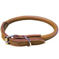 Schecker halsband van elandleer -rond-