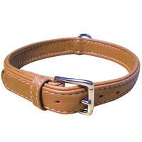 Schecker halsband van elandleer -plat