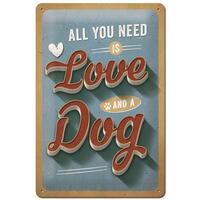 Nostalgic-Art bord Love Dog