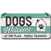 Nostalgic-Art wandbord DOGS Welcome