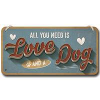 Nostalgic-Art wandbord Love Dog