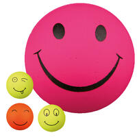 Smiley schuimrubberbal in set van 4
